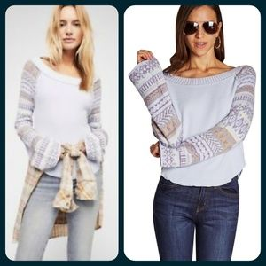 Free People Fairgrounds Thermal Mix media Top